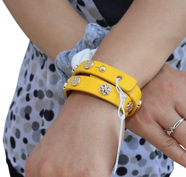 Item - Yellow Double Wrap Logo Bracelet