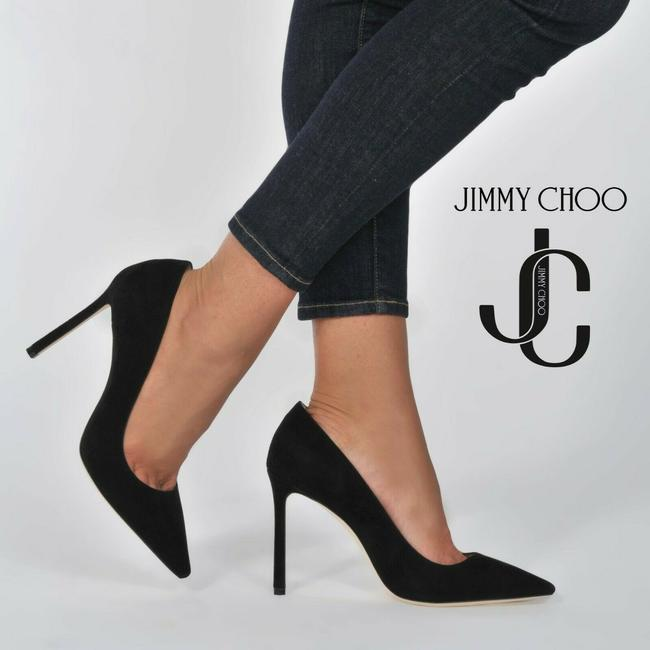 Item - Black Romy 85 Classic Pointed Toe Heel Suede Pumps Size US 8.5 Regular (M, B)
