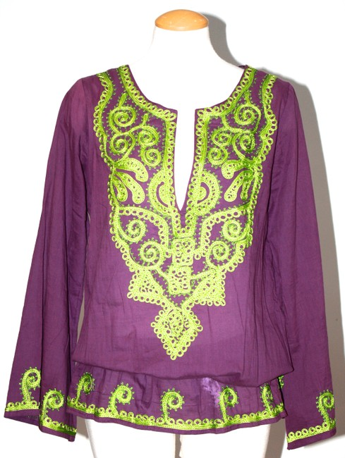 Item - Purple Green Cotton New with Tags Small Tunic Size 6 (S)