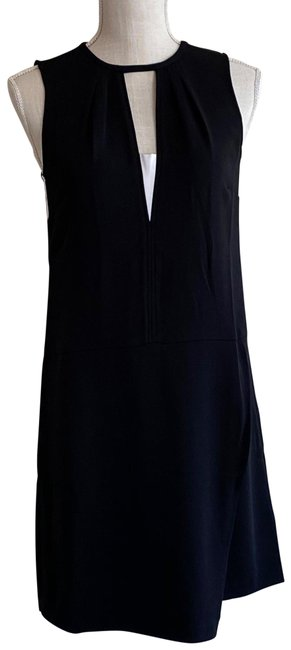 Item - Black and White Sheath Mid-length Work/Office Dress Size 2 (XS)