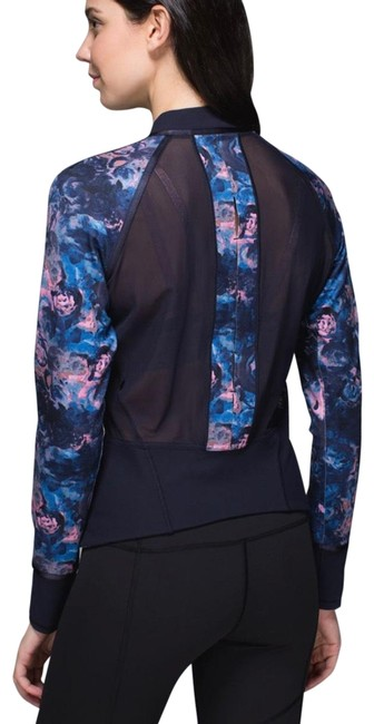 Item - Moody Mirage Bark Berry Deep Navy You're Lucky Activewear Outerwear Size 6 (S)