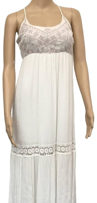 Item - Ivory Small Long Casual Maxi Dress Size 4 (S)
