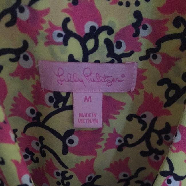 Lilly Pulitzer Top Yellow/pink/navy