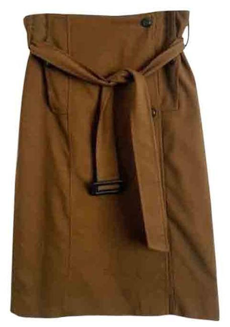 Item - Brown Cartonnier Trench Coat Pencil Skirt Size 4 (S, 27)