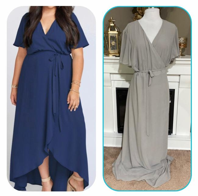 Item - Gray Or Taupe Sophia Wrap Long Casual Maxi Dress Size 26 (Plus 3x)