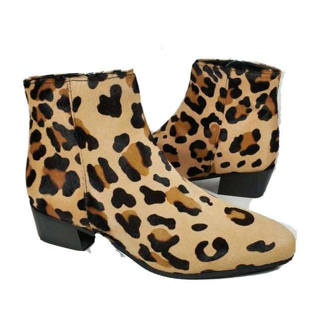 Item - Tan Brown Fuoco Calf Hair Leopard Animal Print Ankle Boots/Booties Size US 8 Regular (M, B)