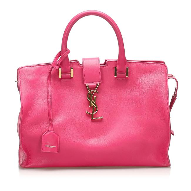 Item - Cabas Monogram Pink Leather Satchel