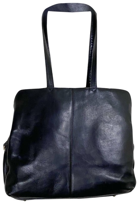 Item - Tote Vintage Leather Briefcase Black Cowhide-leather Laptop Bag