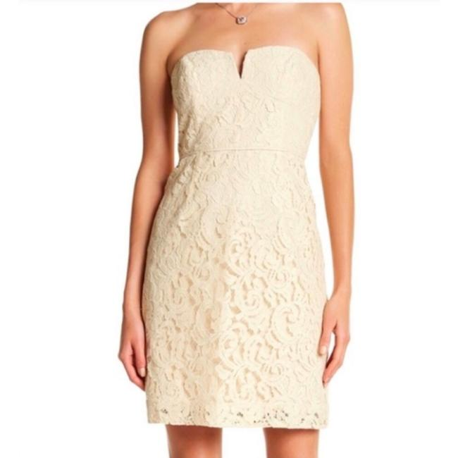 J.Crew Cream Lace Catherine Leavers Casual Bridesmaid/Mob Dress Size 8 (M) J.Crew Cream Lace Catherine Leavers Casual Bridesmaid/Mob Dress Size 8 (M) Image 1