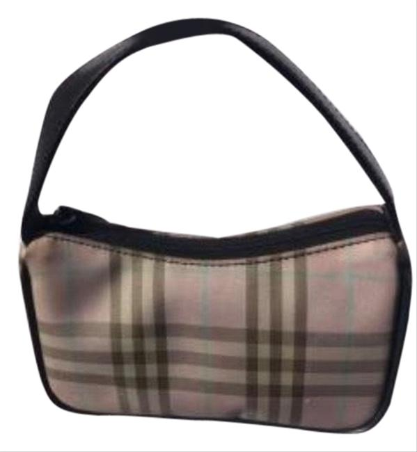 Item - Super Mini Pochette Pink Plaid and Black Leather Trim Baguette