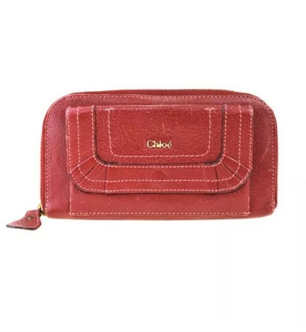 Chloé Red Marcie Zip Wallet Chloé Red Marcie Zip Wallet Image 1