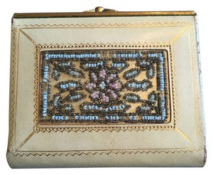 Daniel Day Vintage Daniel Day 1950's Paris Cream Floral Beaded Wallet - FREE SHIPPING
