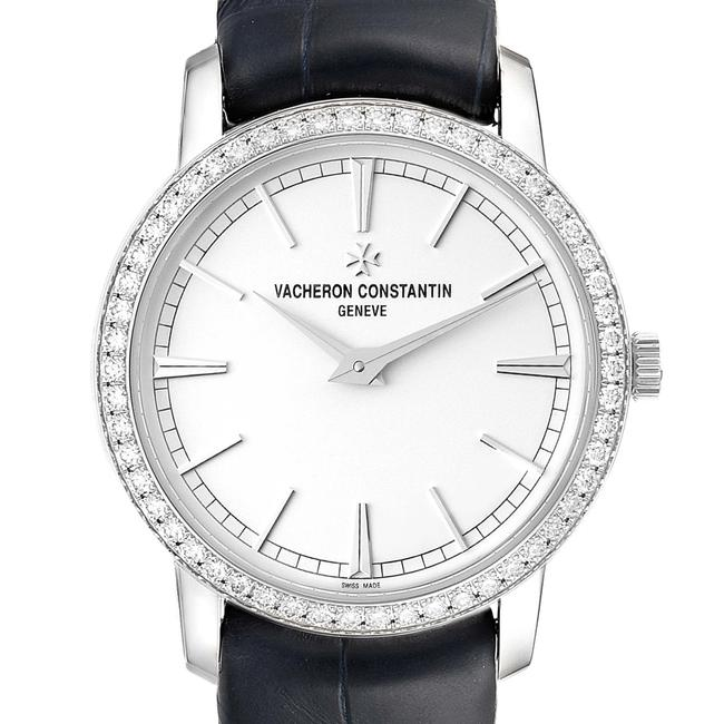 Item - Silver Traditionnelle White Gold Diamond Ladies Watch