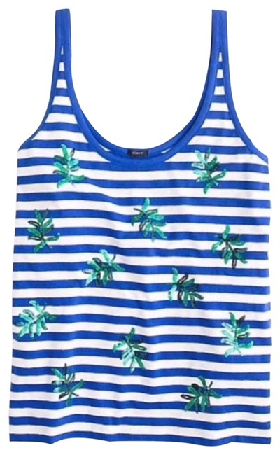 Item - Blue Stripe Bling Tank Top/Cami Size 6 (S)