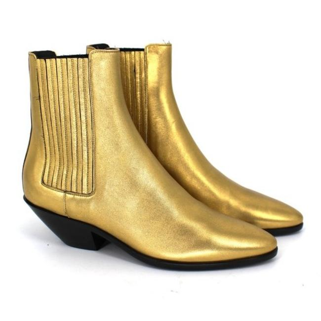 Item - Gold Black New West Chelsea Ankle Boots/Booties Size EU 37 (Approx. US 7) Regular (M, B)