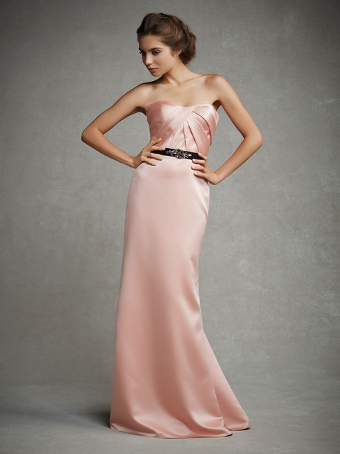 Item - Blush Satin Love Collection Gown Feminine Bridesmaid/Mob Dress Size 12 (L)