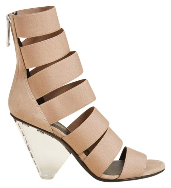 Item - Tan New Nude Lisa Elastic Caged Sandals Size EU 37 (Approx. US 7) Regular (M, B)