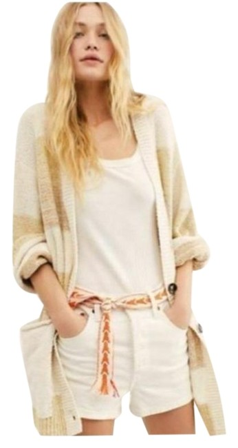 Free People Cream Tan Southport Oversized Beach Cardigan Size 10 (M) Free People Cream Tan Southport Oversized Beach Cardigan Size 10 (M) Image 1