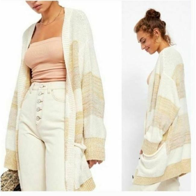 Free People Cream Tan Southport Oversized Beach Cardigan Size 10 (M) Free People Cream Tan Southport Oversized Beach Cardigan Size 10 (M) Image 2
