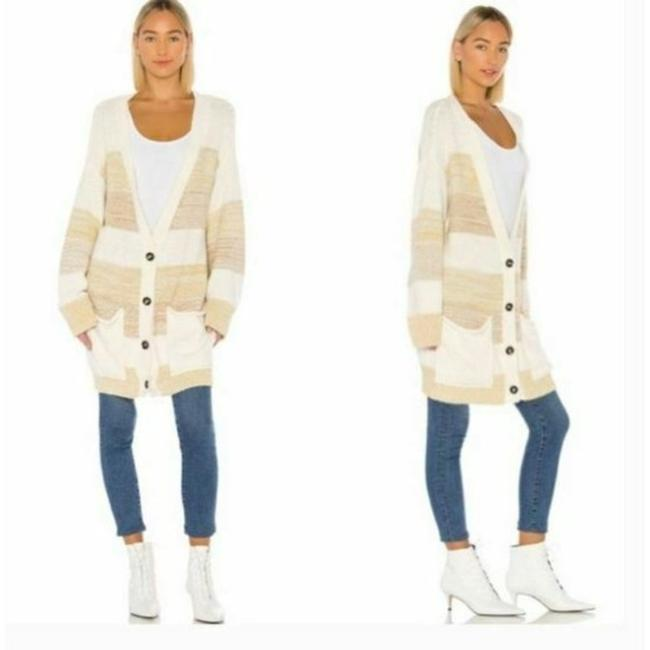 Free People Cream Tan Southport Oversized Beach Cardigan Size 10 (M) Free People Cream Tan Southport Oversized Beach Cardigan Size 10 (M) Image 3