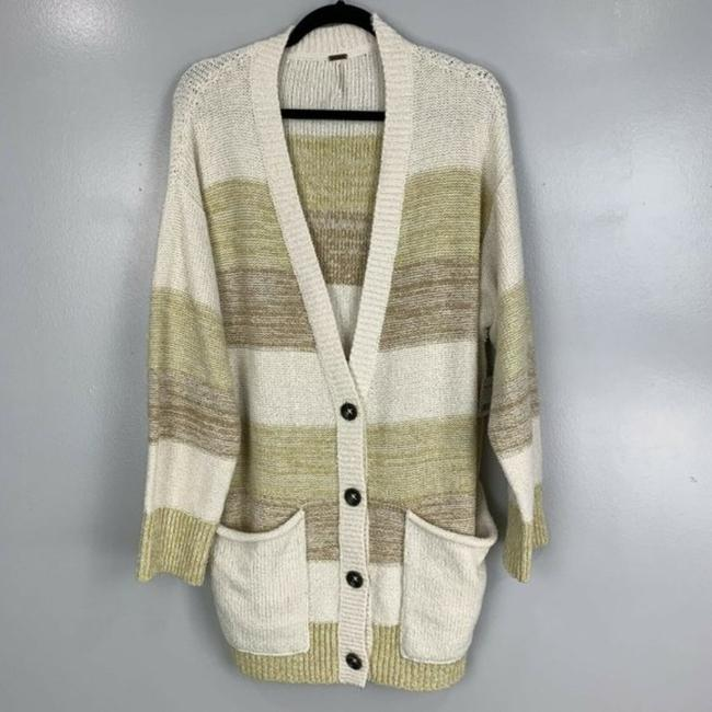 Free People Cream Tan Southport Oversized Beach Cardigan Size 10 (M) Free People Cream Tan Southport Oversized Beach Cardigan Size 10 (M) Image 5