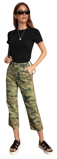 Item - Green Dark Rinse Remy Camo Pant Capri/Cropped Jeans Size 27 (4, S)
