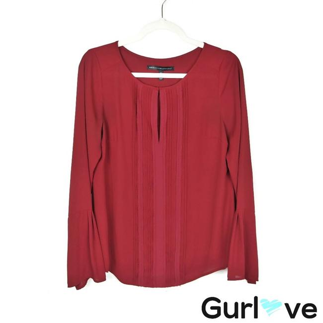 Item - Red Whbm Maroon Bell Sleeve Blouse Size 6 (S)