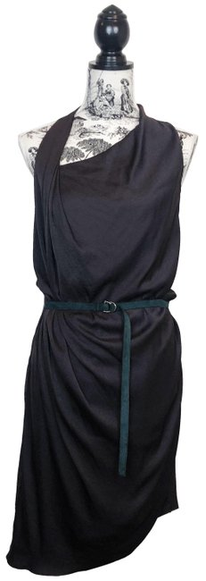 Item - Grey Orbit Belt Assymetrical Midi Mid-length Night Out Dress Size 4 (S)
