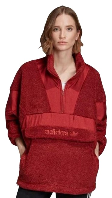 Item - Red Sherpa Oth 1/2 Zip Pullover Activewear Size 10 (M)