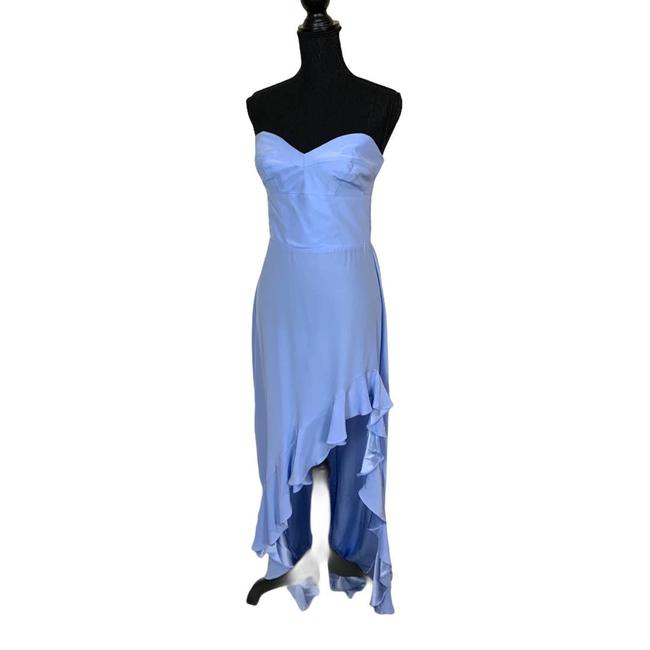 Item - Blue Silk Gown In English Lavender Feminine Bridesmaid/Mob Dress Size 12 (L)