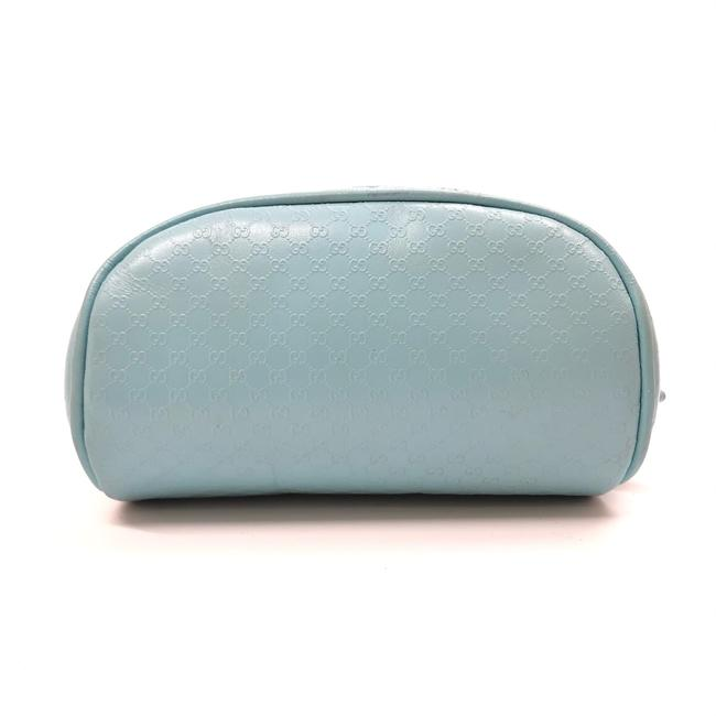 Item - Blue Womens Gg ssima Leather Pouch / / Toilet / Case Cosmetic Bag