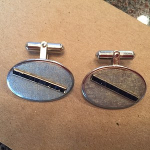 Silver with Sapphires Cufflinks/Studs