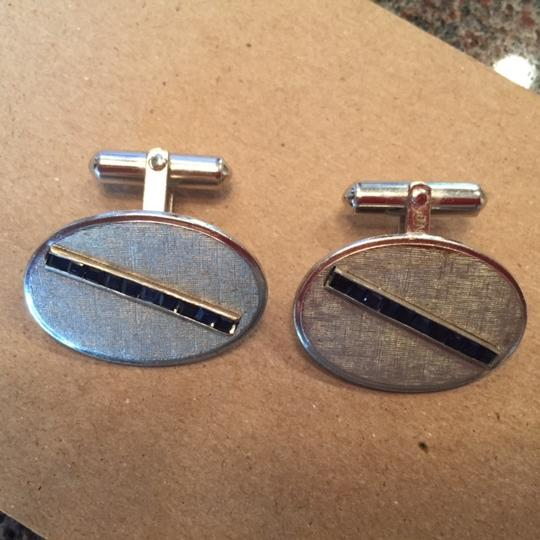 Preload https://item4.tradesy.com/images/silver-with-sapphires-cufflinksstuds-2827753-0-0.jpg?width=440&height=440