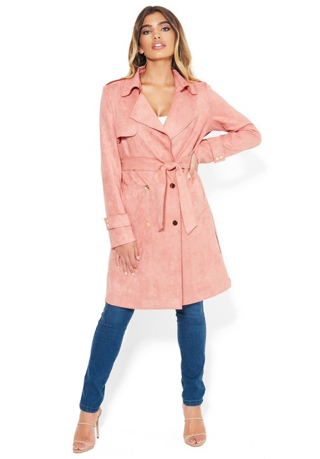 Item - Pink Jacket Faux Suede Chic S Coat Size 4 (S)