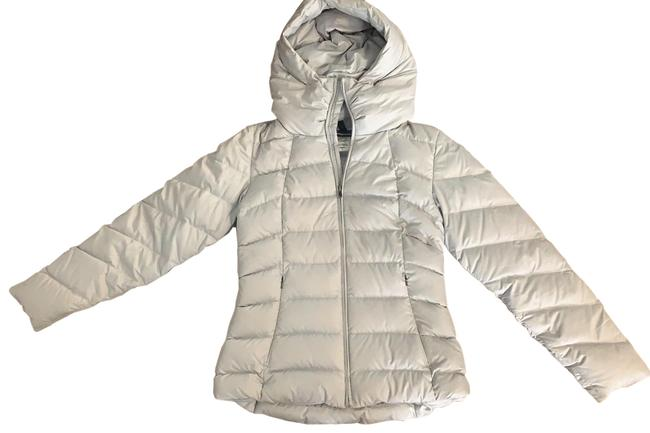 Item - Silver Light Gray Goose Down Puffer Coat Size 8 (M)
