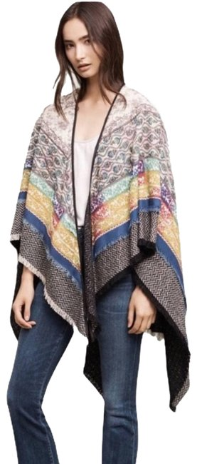 Item - Cream Petanu By Pashma Cashmere Silk Wool Quilted Shawl New Poncho/Cape Size OS (one size)