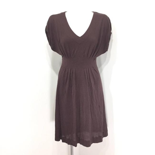 Item - Brown XS Deletta Back Porch V-neck Knee Length Mid-length Short Casual Dress Size 2 (XS)