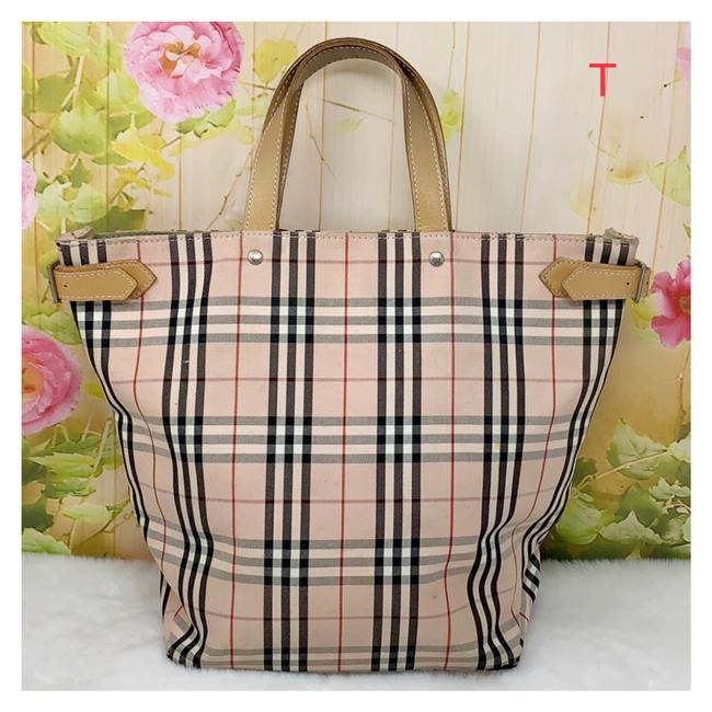 Item - Bag Pink White Canvas Tote