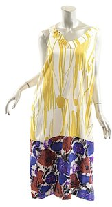 Yellow, White, Multi Color Maxi Dress by Dries van Noten