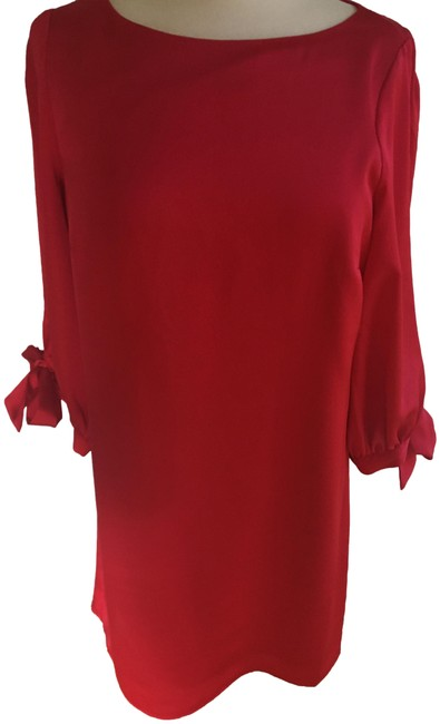 Item - Cherry Red Tie Sleeve Mid-length Formal Dress Size 4 (S)