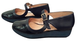 Robert Clergerie Mary Jane Marine Blue Blue Patent Navy Blue Wedges