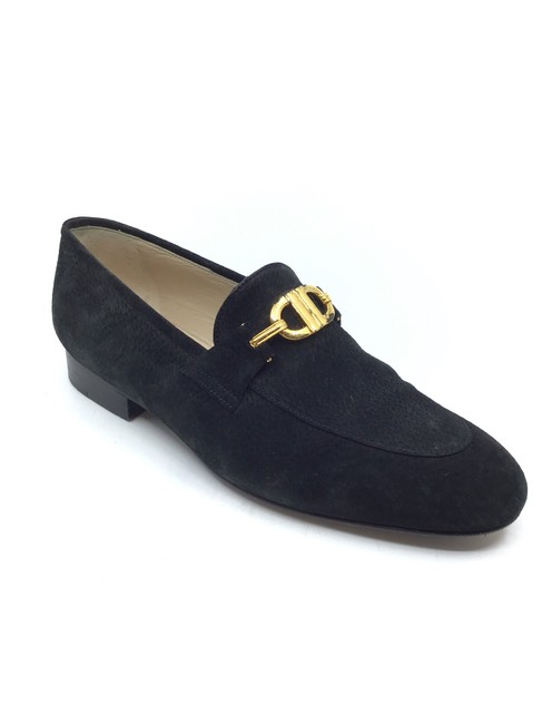 Item - Black Suede Vintage Loafers Flats Size US 6.5 Regular (M, B)