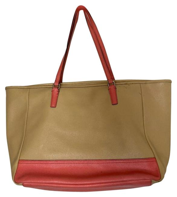 Item - Shoulder Bag Tote/ Tan Orange Leather Tote