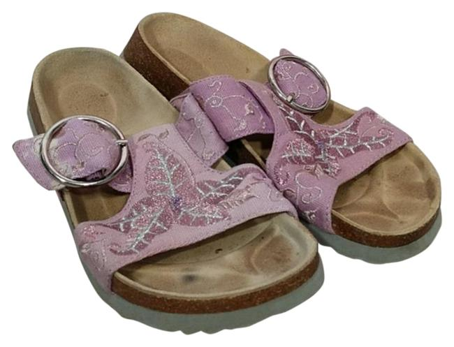 Item - Pink Floral Canvas Sandals Size EU 38 (Approx. US 8) Narrow (Aa, N)