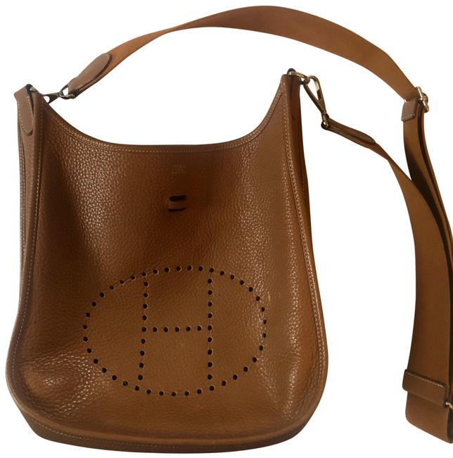 Hermès Crossbody Evelyne Taurillon Iii Pm Gold Clemence Brown Leather Hobo Bag Hermès Crossbody Evelyne Taurillon Iii Pm Gold Clemence Brown Leather Hobo Bag Image 1