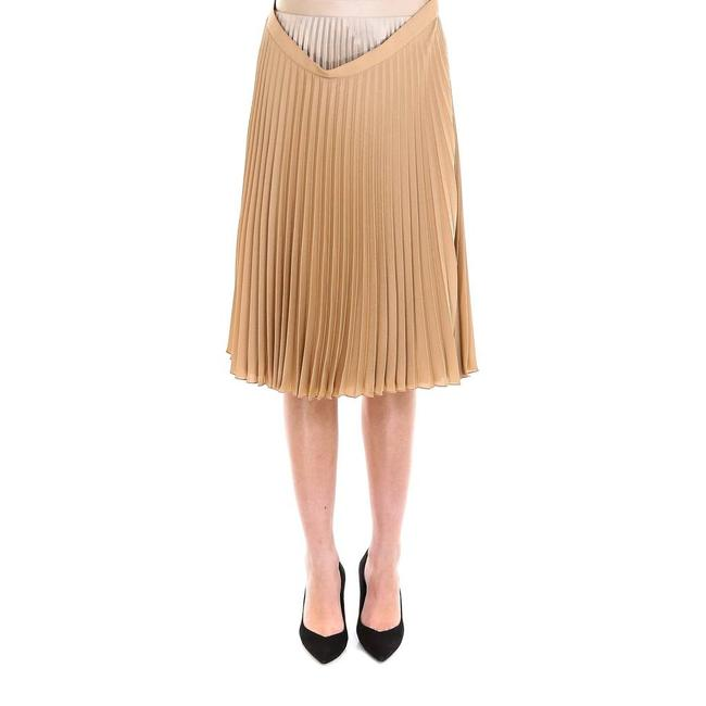 Burberry Sand Beige Crepe De Chine Layered Pleated Skirt Size 8 (M, 29, 30) Burberry Sand Beige Crepe De Chine Layered Pleated Skirt Size 8 (M, 29, 30) Image 1