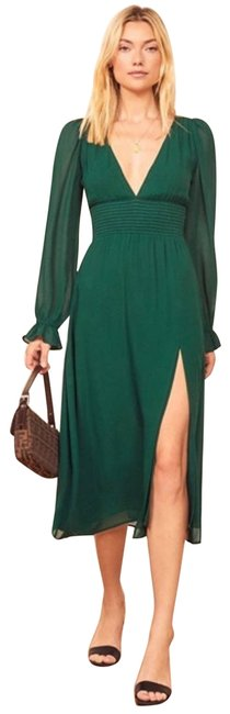 Item - Green XS Aries Midi In Emerald Mid-length Cocktail Dress Size 0 (XS)
