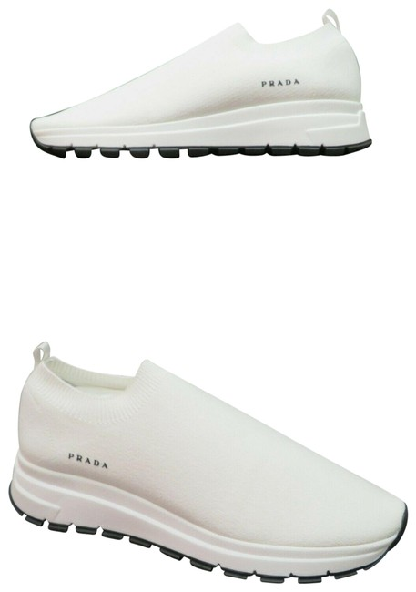 Item - White 1s716l Knitted Sock Platform Logo Low Top Sneakers Size EU 40.5 (Approx. US 10.5) Regular (M, B)