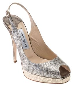 Jimmy Choo Champagne Glitter Formal