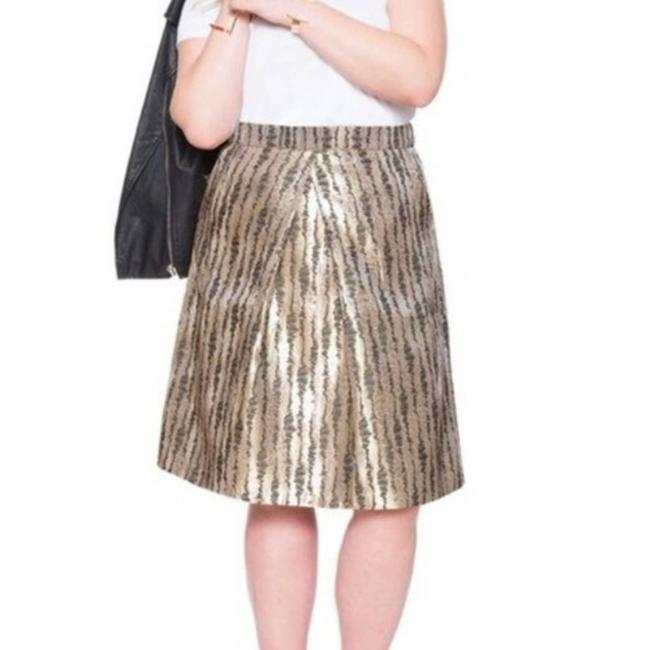 Item - Gold Studio Metallic A-line -18 Skirt Size 18 (XL, Plus 0x)